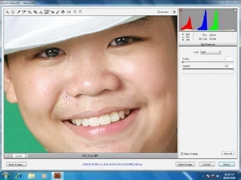 Photoshop CS5   Phan 2   Bai 6   Spot removal