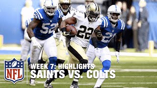 Saints vs. Colts | Week 7 Highlights | NFL