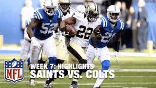 Saints vs. Colts | Week 7 Highlights | NFL