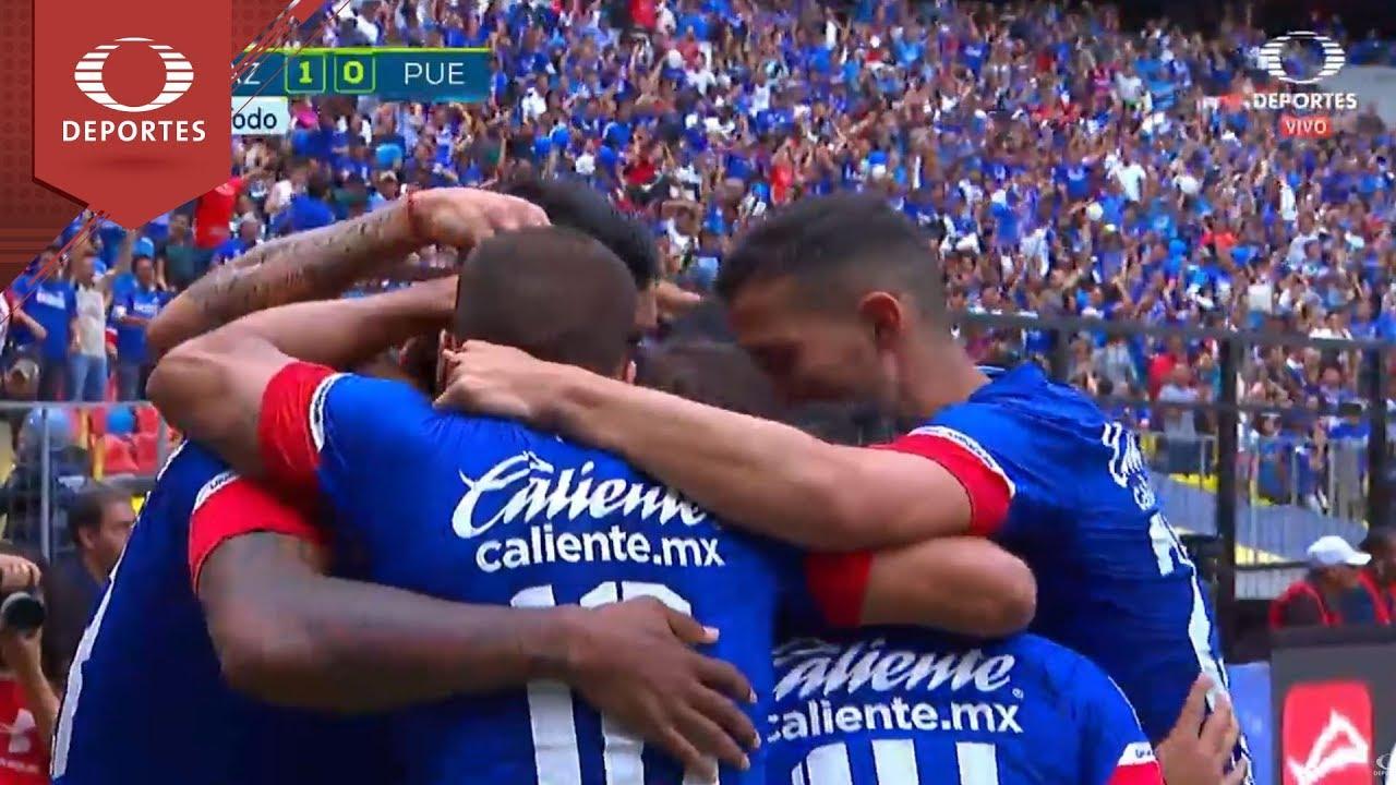 Gol De Renteria Cruz Azul   Puebla Apertura Televisa Deportes