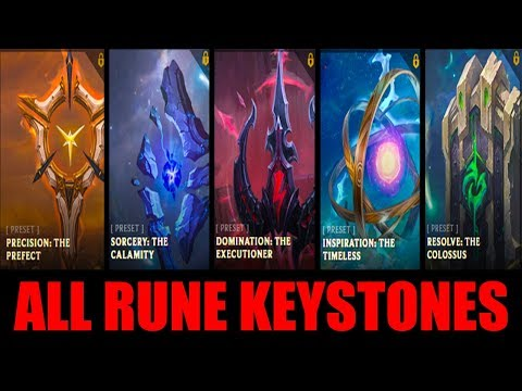 All New Rune Keystones Game Play | League Of Legends