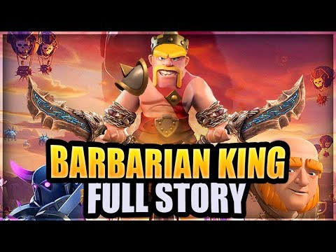The FULL Barbarian King Story Compilation - How a Barb became the Barb King | Clash of Clans Story