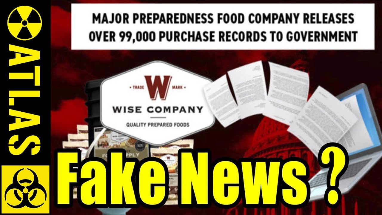 Some Fake News Almost Destroys Wise Food Storage!