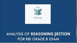 analysis of reasoning for rbi grade b 2017 phase 1
