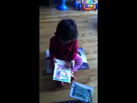 Baby with musical birthday card