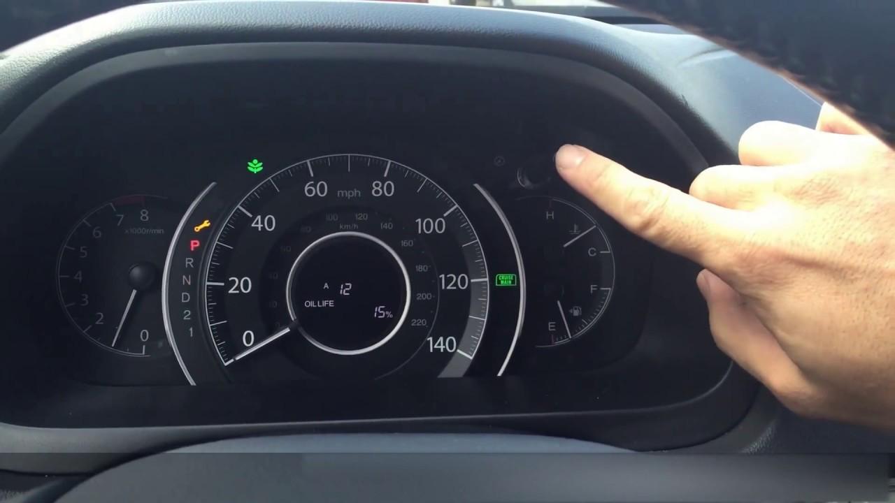 2013 Honda Crv Oil Life Reset 2012 2011 2014 2010 Youtube