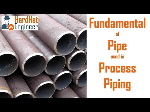 Fundamental of Pipe (Pipeline) used in Process Piping (Basic of Industrial Pipe)