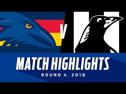 Adelaide v Collingwood Highlights - Round 4 2018 - AFL
