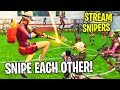 When Stream Snipers Snipe Each Other.... (Fortnite Sniper Shootout)
