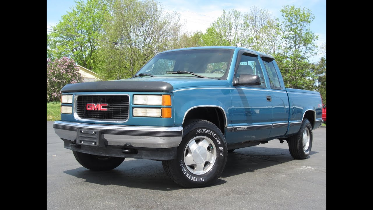 1998 GMC 1500 SLE 4x4 5.7L 350CI Z-71 Extended Cab SOLD ...