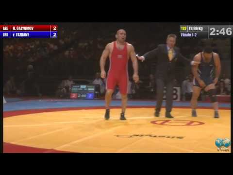 Reza Yazdani (IRI) vs Khetag Gazyumov (AZE) 96kg Final - 2013 World Wrestling Championships