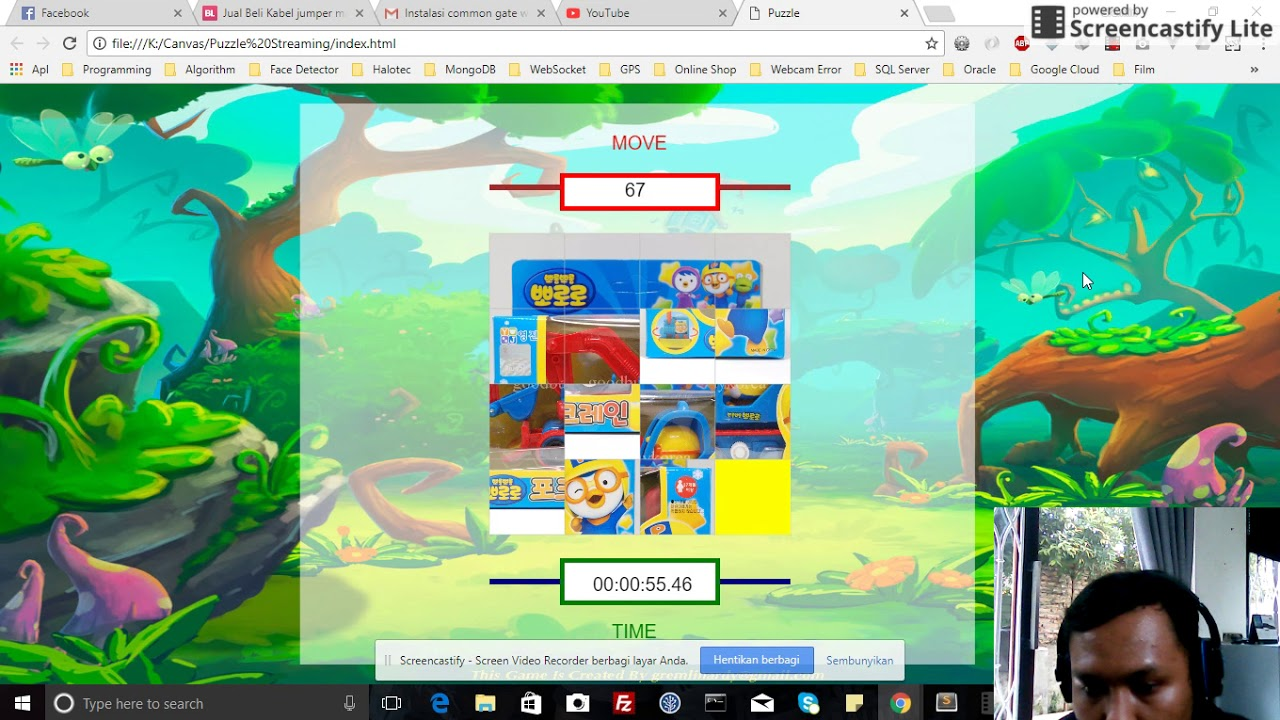 HTML5 Puzzle Game With Canvas - YouTube