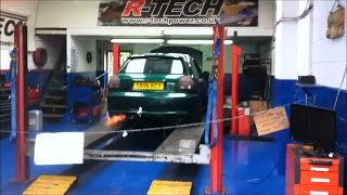 audi a3 1 8t 300 bhp r tech remap flames popping banging