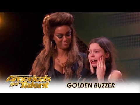 Courtney Hadwin: Shy Schoolgirl SHOCKS The Judges Gets GOLDEN BUZZER!! | America's Got Talent 2018