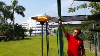 커들리 키다리 히터 방수 시연 동영상