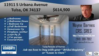 4 bedroom 4 bath 3 car garage in tulsa for sale