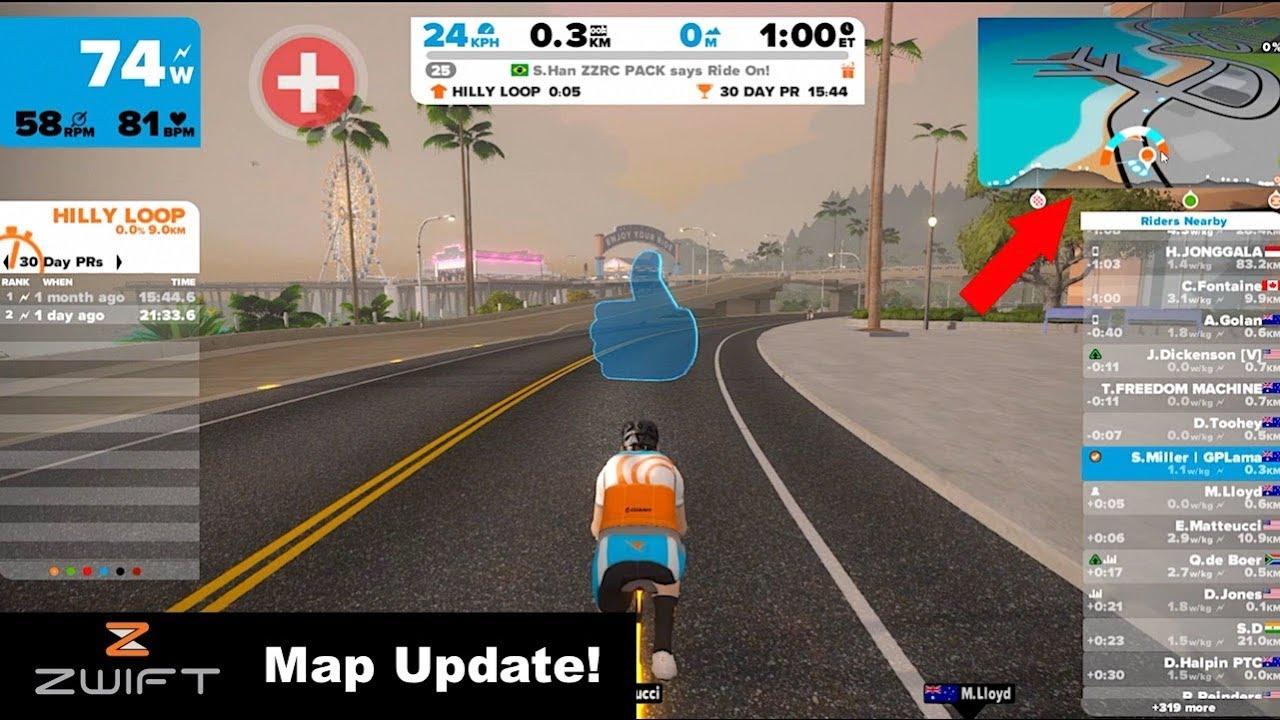 Swift Zwift Tip: Navigation Map Update // Zwift How To