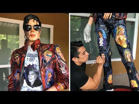 Amazing Real-Life Michael Jackson Sculpture