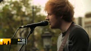 """Ed Sheeran performs """"The A Team"""" on CBS This Morning: Saturday"""