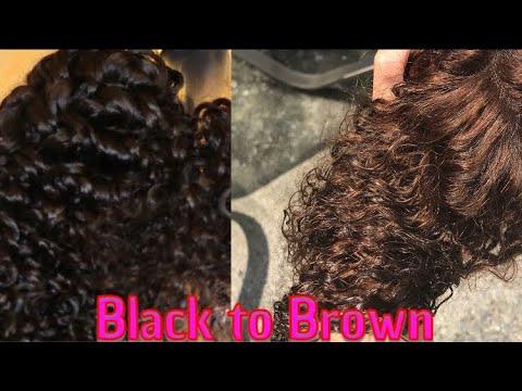 How To Lighten Bundles Brown Or Blonde   NO BLEACH   Wig Series Part 1