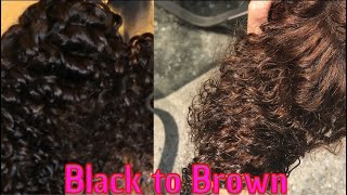 How to Lighten Bundles Brown or Blonde | NO BLEACH | Wig Series Part 1