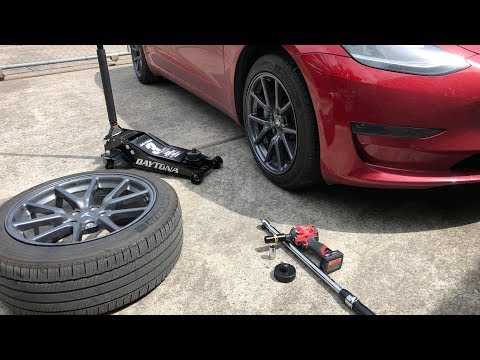 How to Change a Tire on a Tesla Model 3