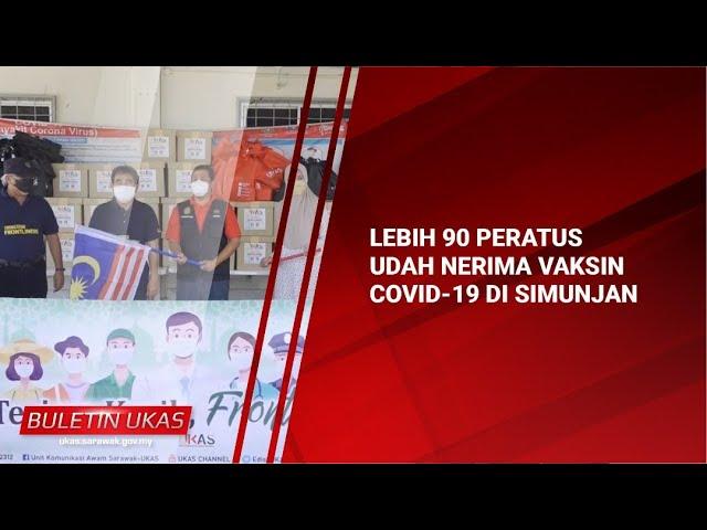#KlipBuletinUKAS(Iban) Lebih 90 Peratus Udah Nerima Vaksin COVID-19 Di Simunjan