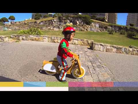 VES-PATA Bicicleta de inicio, Niño, Madera, Aprendizaje. Señal de Ajuste