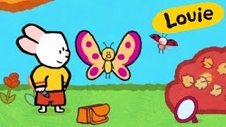 Cartoon for kids - Louie draw me a butterfly HD | Learn to draw