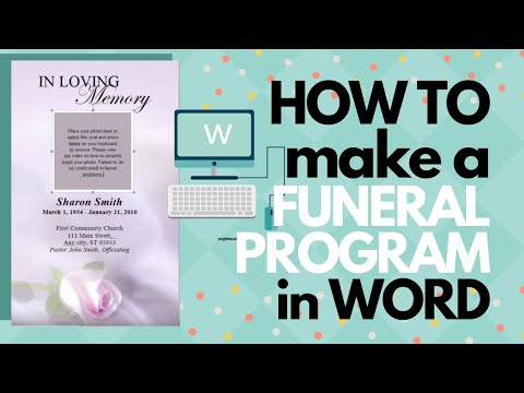 How To Make A Funeral Program In Word