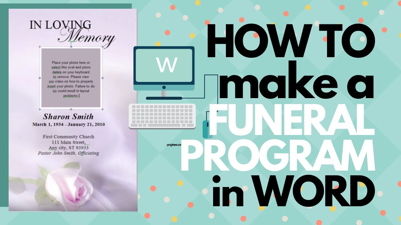 How To Customize A Funeral Program Template   YouTube  Printable Funeral Program Templates