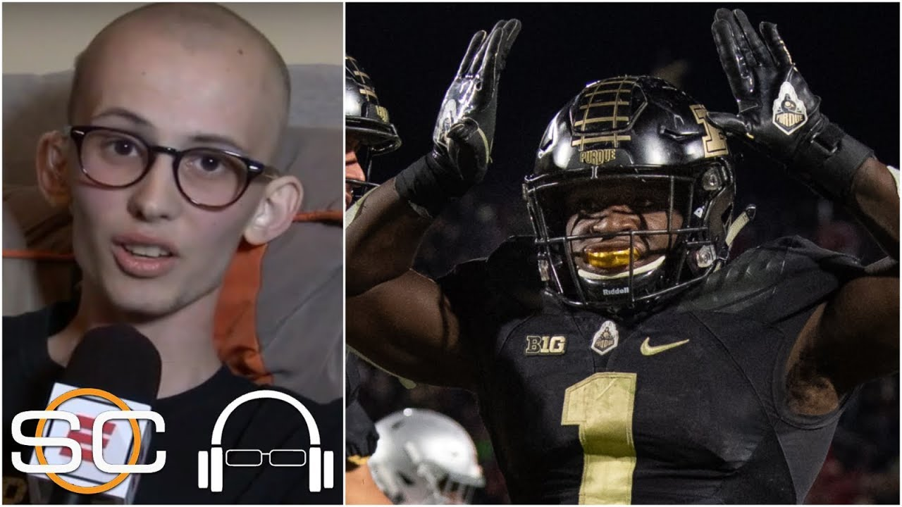 the latest df325 6d9ff Purdue superfan Tyler Trent joins SVP to talk Ohio State win, Stuart  Scott's influence | SC with SVP
