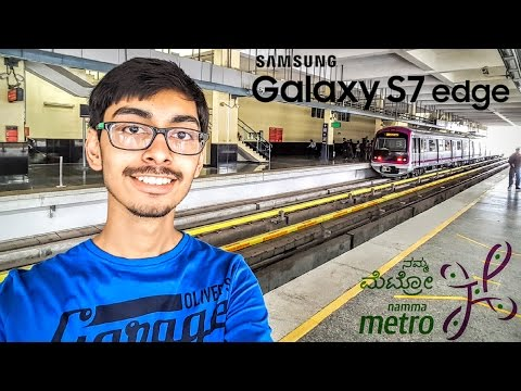 4K! Namma Metro Ride | Church Street | Lunch | VLOG with Samsung Galaxy S7 Edge | Bengaluru | India