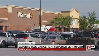 Baby found 'shaking' in car at Upstate Walmart, caution urged for parents
