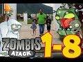 #PlantsVsZombies #T1 #C8 plantas contra zombies atack -- Plantas Vs. Zombis -- Plants Vs. Zombies--