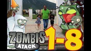 #PlantsVsZombies #T1 #C8 plantas contra zombies atack