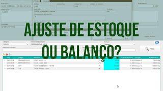 Diferença de Ajuste de estoque e Balanco || UP KEY Software