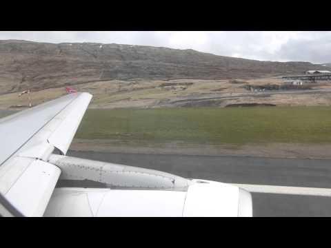 Atlantic Airways Airbus A319 OY-RCG departing Vagar Airport (Faroe Islands) bound for Copenhagen