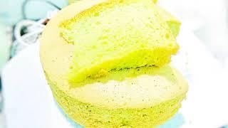 Cách làm bánh bông lan lá dứa Đài Loan mềm xốp đơn giản by Thiên Tân