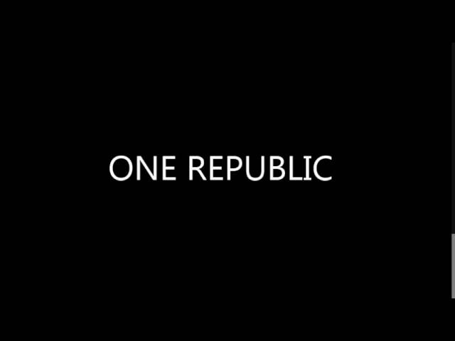 One Republic   Stop and Stare & Apologize MASHUP