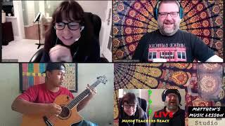 Music Teachers React Live to Alip Ba Ta It's My Life by Bon Jovi Acoustic Guitar Cover Reaction
