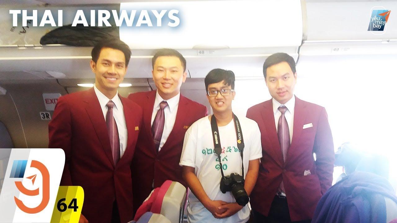 [M9] #64: Bay hãng 4 sao Thai Airways \u0026 kiosk check-in sân bay Suvarnabhumi  | Yêu Máy Bay