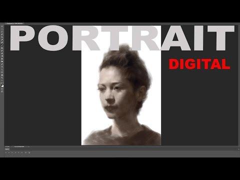 Portrait Painting in Digital Media.