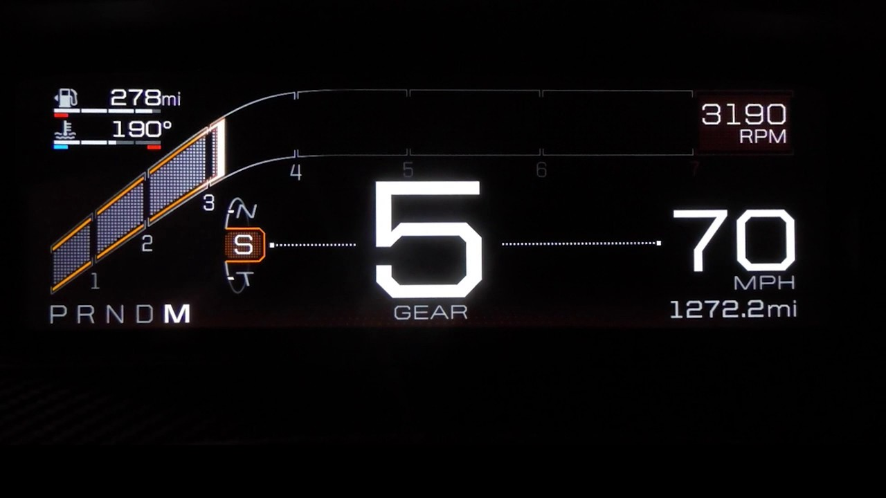 Shots Of The Ford Gt Supercars  Inch Digital Dashboard