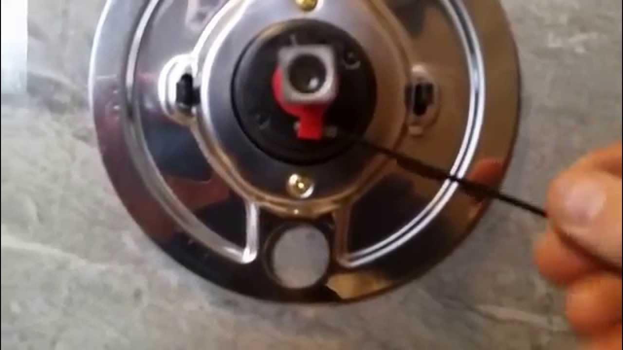 kohler shower valve temperature adjustment