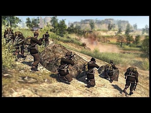 British Commandos and Paras Storm German Hill Fort | Men of War Assault Squad 2 Mod Gameplay
