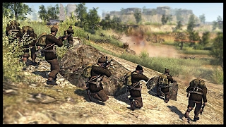 British Commandos and Paras Storm German Hill Fort | Men of War Assault Squad 2 Mod Gameplay