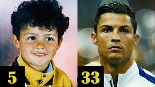 CRISTIANO RONALDO TRANSFORMATION FROM 1 TO 33 YEARS OLD
