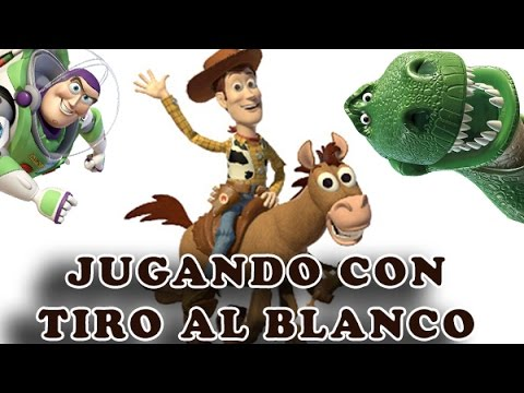 Jugando Toy Story con Tiro al Blanco y Woddy | Diviertete y Aprende