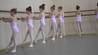 Открытый урок в балетной школе, окончание 1 класса